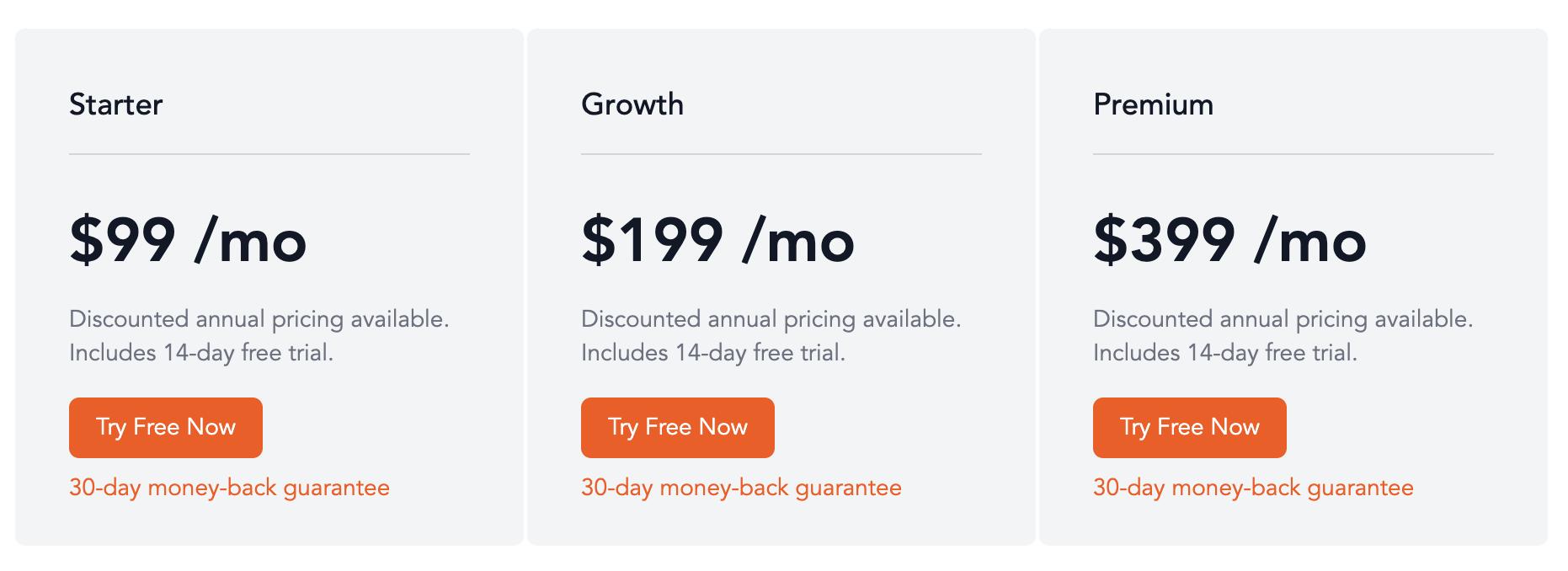 Nickelled pricing