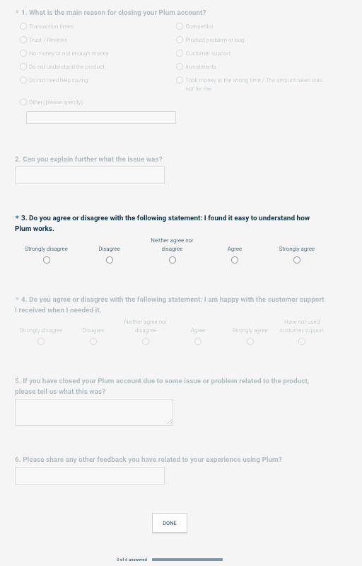 An NPS survey