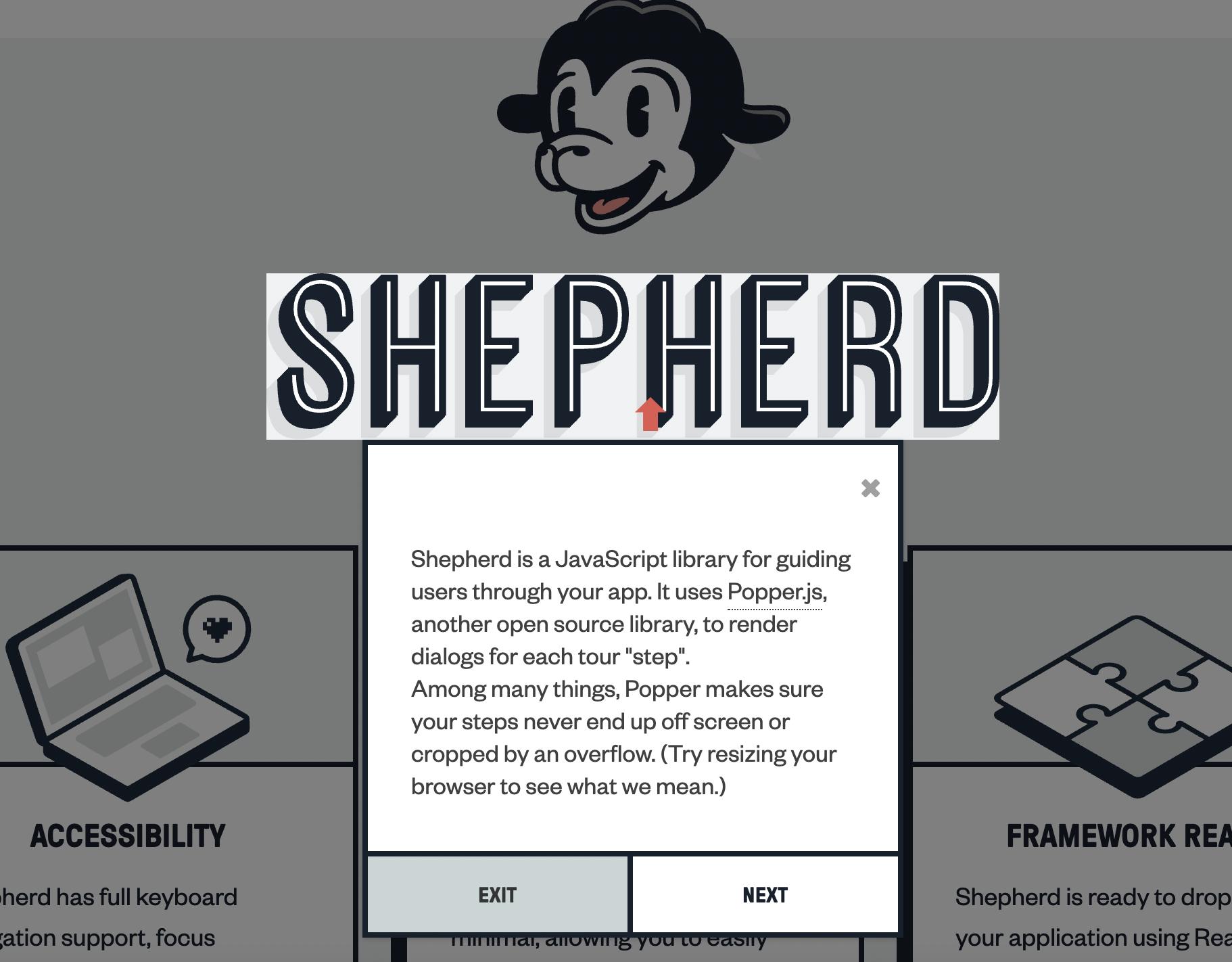 React Shepherd screenshot
