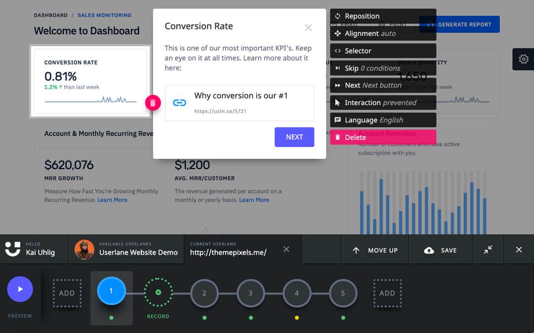 Userlane screenshot