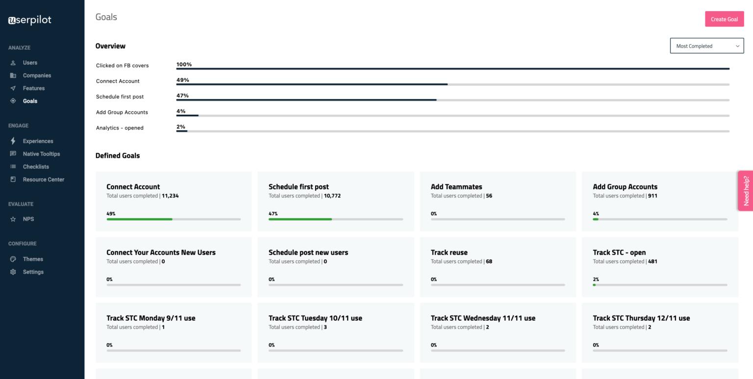 Userpilot screenshot