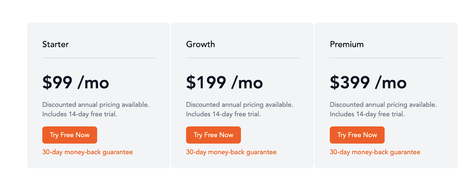 Nickelled pricing packages